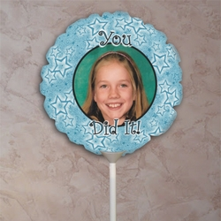 Personalized Blue Stars Photo Balloon