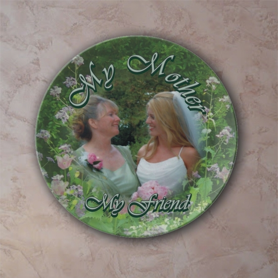 Personalized Botanical Garden Porcelain Photo Plate