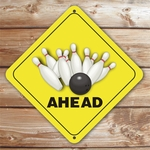 Personalized Bowling Caution Sign