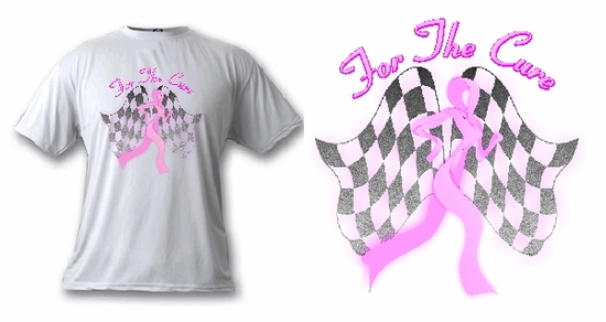 Personalized Breast Cancer Awareness Pink Ribbon Runner T-Shirt