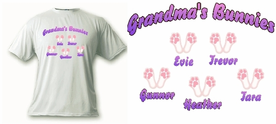 Personalized Bunny Feet Character T-Shirt