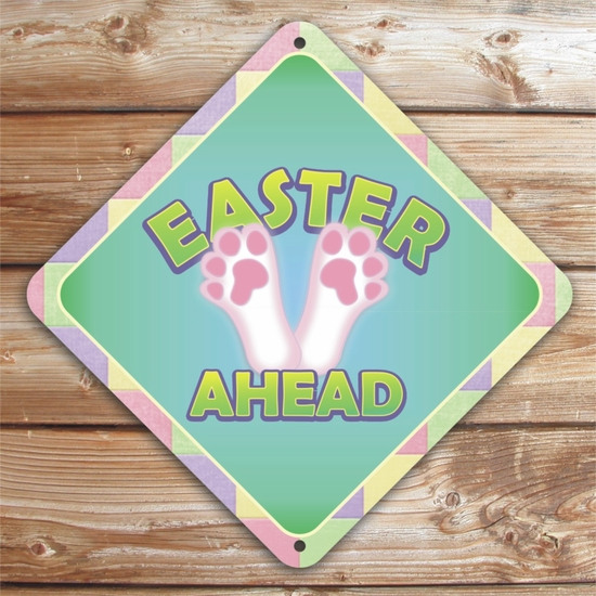 Personalized Bunny Feet Easter Sign