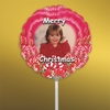 Personalized Candy Canes Christmas Photo Balloon