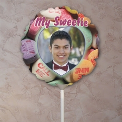 Personalized Candy Hearts Valentine Balloon