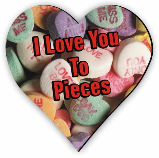 Personalized Candy Hearts Valentine Jigsaw Puzzle