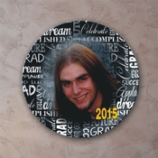 Personalized Chalkboard Graduation Porcelain Photo Plate