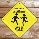 Personalized Children Playing Caution Sign