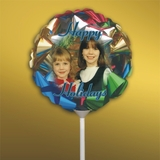 Personalized Christmas Bows Photo Balloon