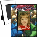 Personalized Christmas Bows Picture Frame For A 5x7 Picture