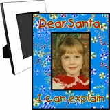 Personalized Christmas Candy Picture Frame For A 5x7 Picture