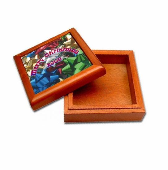Personalized Christmas Cherry Keepsake Box