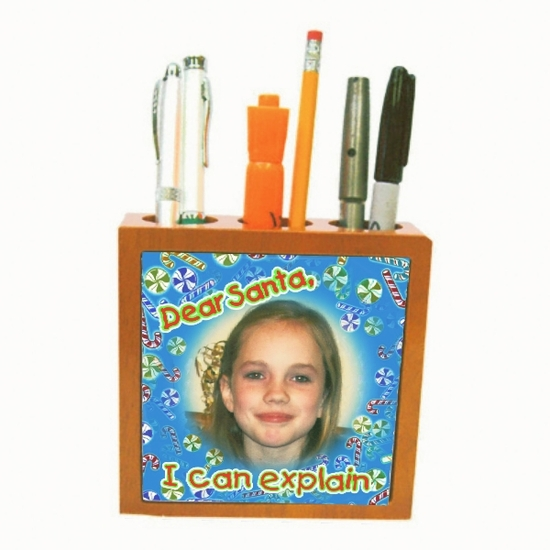Personalized Christmas Cherry Pencil Holder