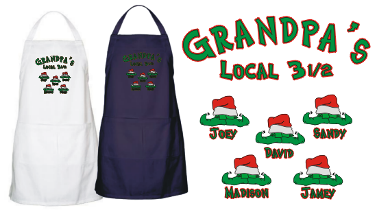 Personalized Christmas Elves Character Apron