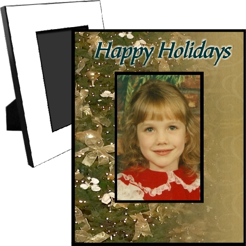 Personalized Christmas Tree Picture Frame For A 5x7 Picture