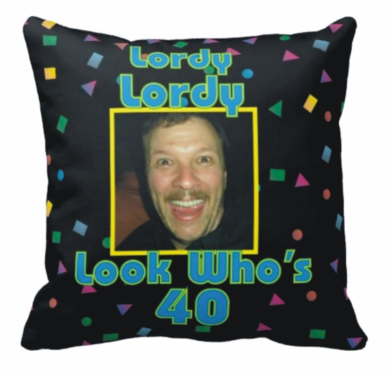 Personalized Colorful Confetti Photo Square Throw Pillow