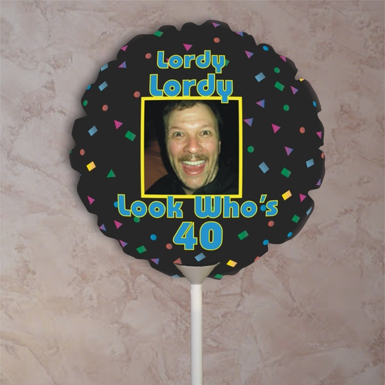 Personalized Confetti Birthday Photo Balloon