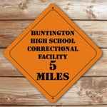 Personalized Correctional Facility Caution Sign