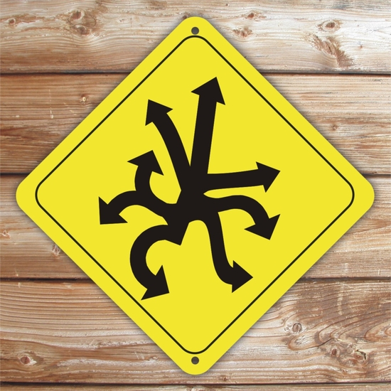 Personalized Directional Caution Sign