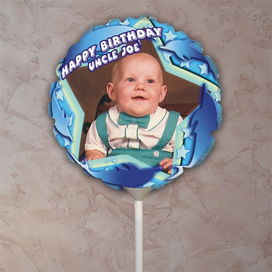 Personalized Dolphins Birthday Photo Balloon