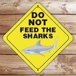 Personalized Don't Feed The Sharks Caution Sign