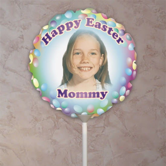 Personalized Easter Egg Photo Balloon