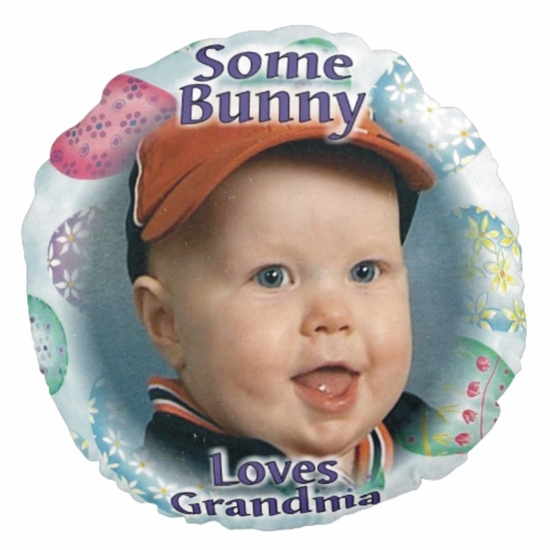Personalized Easter Eggs Round Photo Throw Pillow
