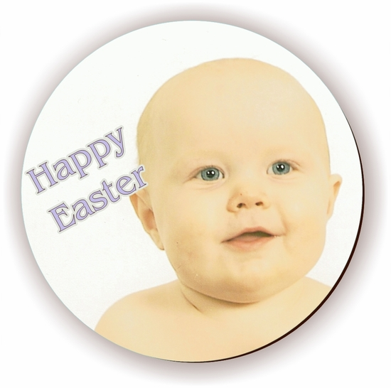 Personalized Easter Round Photo Jigsaw Puzzle