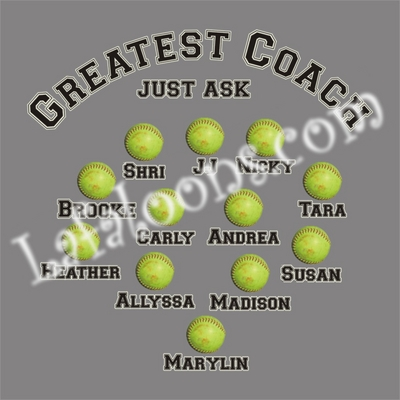 Personalized Fastpitch Softball Coach's T-Shirt