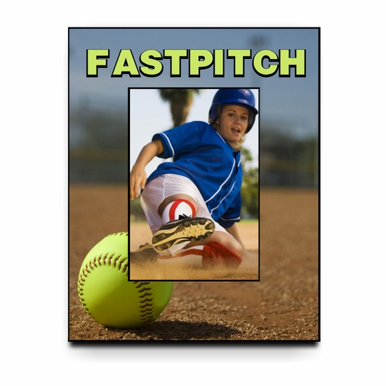 Personalized Fastpitch Softball Field Picture Frame For A 5X7 Picture