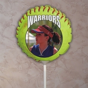 Personalized Fastpitch Softball  Photo Balloon