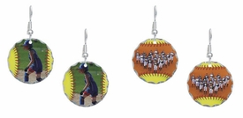 Personalized Fastpitch Softball Photo Earrings