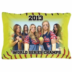 Personalized Fastpitch Softball Photo Pillowcase