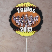 Personalized Fastpitch Softball Seams Photo Balloon