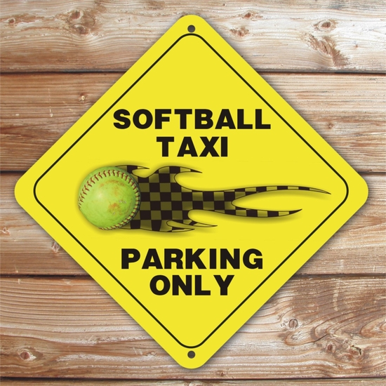 Personalized Fastpitch Softball Tourney Taxi Parking Sign
