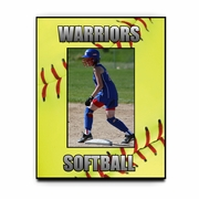 Personalized Fastpitch Softballs Picture Frame For A 5X7 Picture