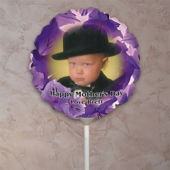Personalized Field Of Flowers Photo Balloon