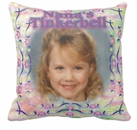 Personalized Floral Pastel Photo Square Throw Pillow