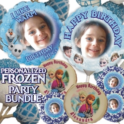 Personalized Frozen Cookie And Cake Treats Party Bundle