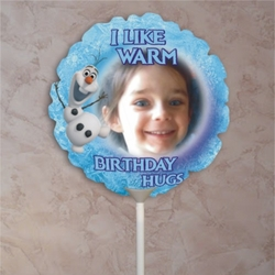 Personalized Frozen Olaf Photo Balloon