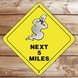 Personalized Ghost Crossing Halloween Sign