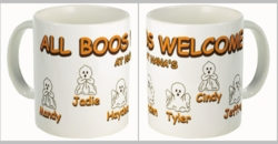 Personalized Ghosts Halloween Coffee And Tea Mug