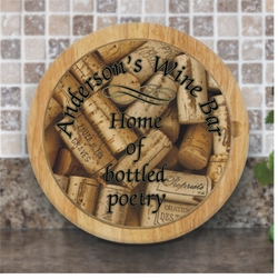 Personalized Glass Top Round Cutting Boards With Tool Set