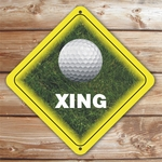 Personalized Golf Ball Crossing Sign