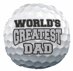 Personalized Golf Ball Round Throw Pillow