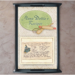 Personalized Grandma's Recipe Serving Tray And Kitchen Wall Decor