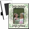 Personalized Green Floral Picture Frame For A 5x7 Picture