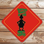 Personalized Grinch Silhouette Sign