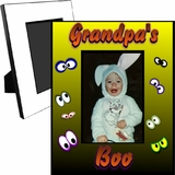 Personalized Halloween Boo Eyes Picture Frame For A 5x7 Picture