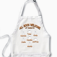 Personalized Halloween Ghost Character Apron