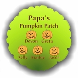 Personalized Halloween Pumpkins Balloon
